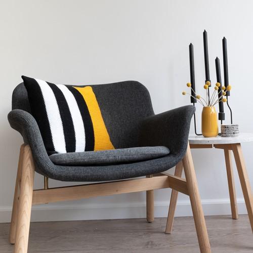 A4 PDF Black, White and Bright Comfy Cushion