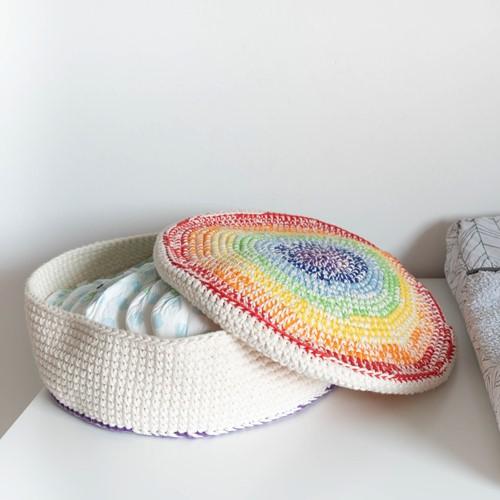 A4 PDF Rainbow Basket