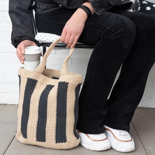Striped Tote Bag
