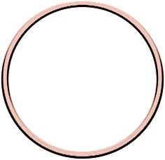 Metal ring 10cm Rose