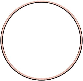 Metal ring 15cm Rose