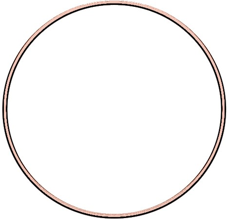 Metal ring 20cm Rose