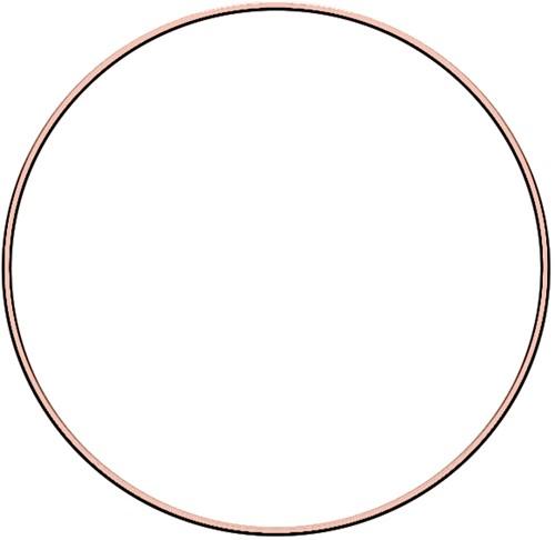 Metal ring 25cm Rose