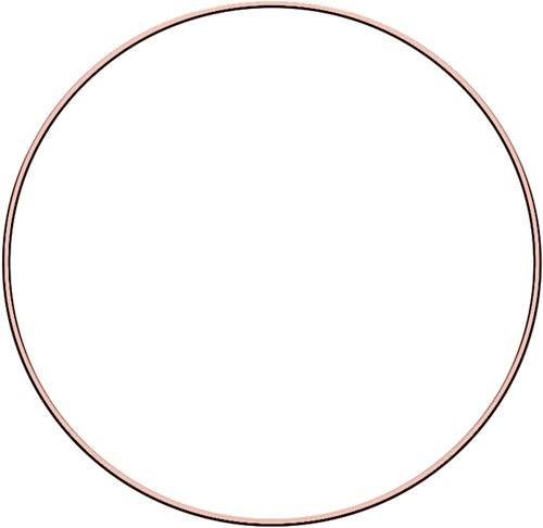 Metal ring 30cm Rose