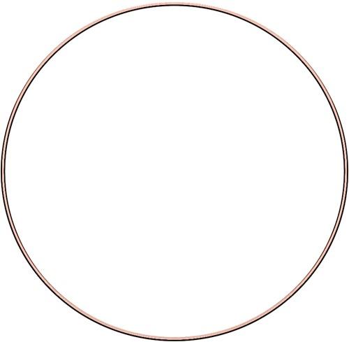 Metal ring 35cm Rose