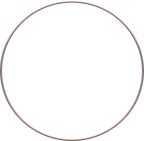 Metal ring 40cm Rose