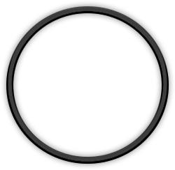 Metal ring 10cm Black
