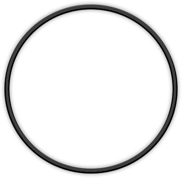 Metal ring 15cm Black