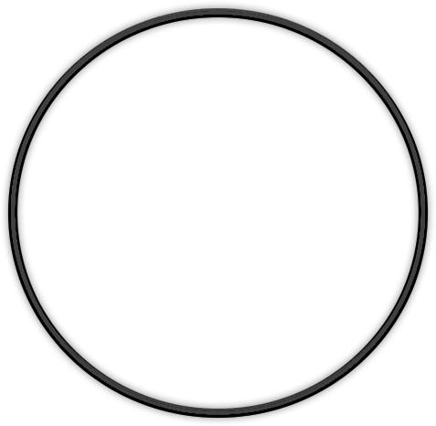 Metal ring 20cm Black