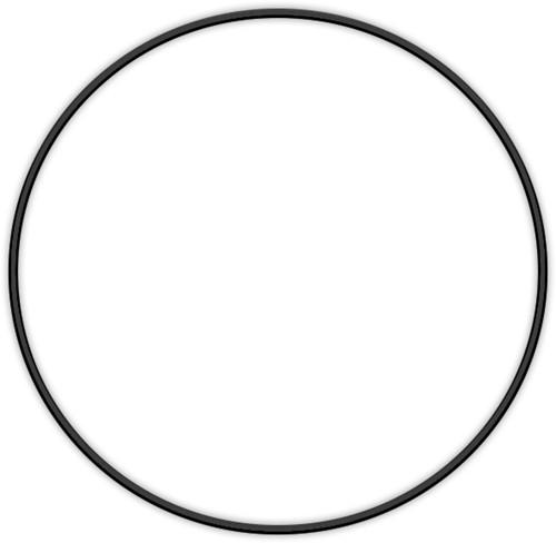 Metal ring 25cm Black