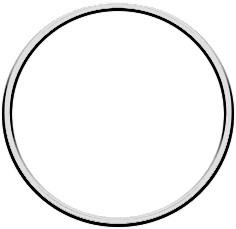 Metal ring 10cm Silver