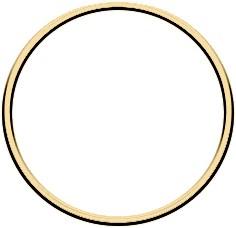 Metal ring 10cm Gold