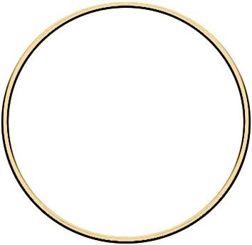 Metal ring 15cm Gold