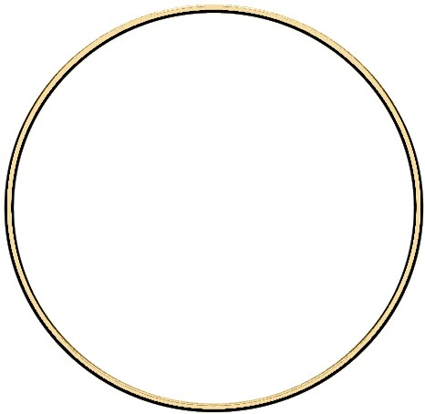 Metal ring 20cm Gold