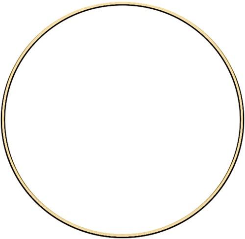 Metal ring 25cm Gold