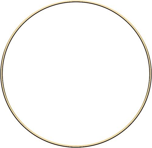 Metal ring 30cm Gold