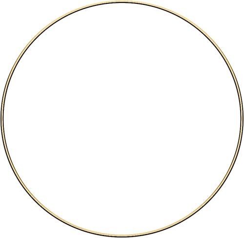 Metal ring 35cm Gold