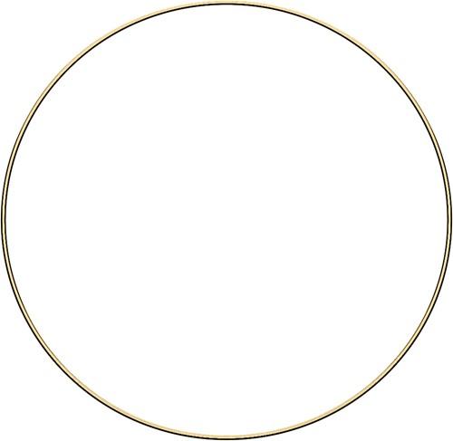 Metal ring 40cm Gold