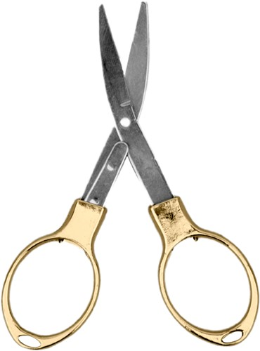 Gold foldable scissor