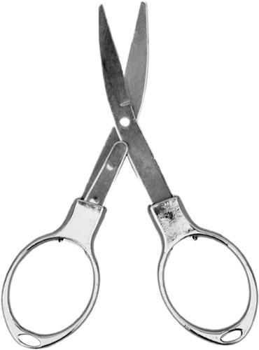 Silver foldable scissor